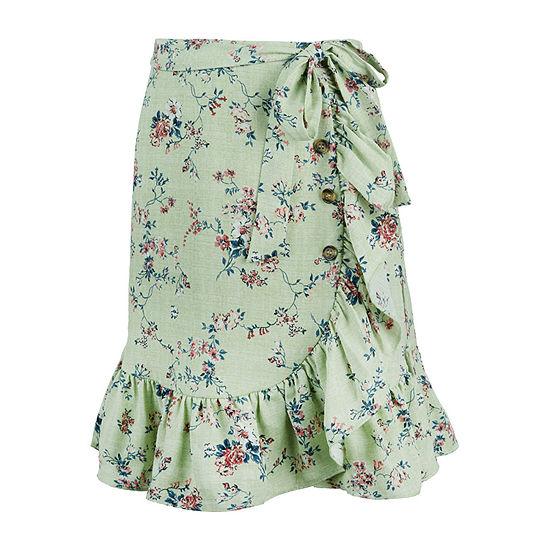 by&by Big Girls Midi Wrap Skirt