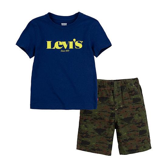 Levi's Little Boys 2-pc. Short Set