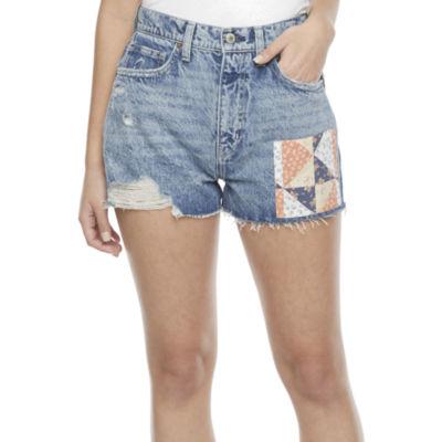 Arizona Womens High Rise Shortie Short-Juniors