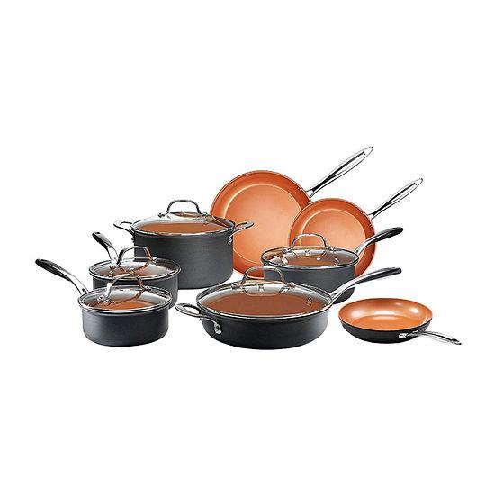 Gotham Steel Pro 13-pc. Aluminum Dishwasher Safe Hard Anodized Non-Stick Cookware Set