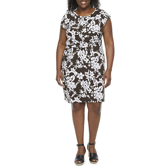 Liz Claiborne Plus Short Sleeve Wrap Dress