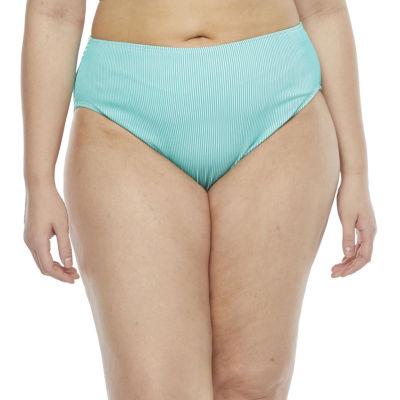 Decree Womens High Waist Bikini Swimsuit Bottom Juniors Plus