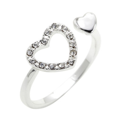 the skinny® Crystal Heart Ring