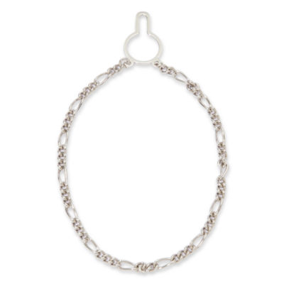 Sterling Silver Figaro Link Tie Chain