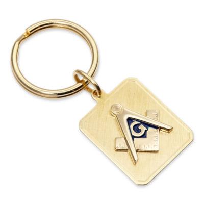 Personalized Masonic Emblem Key Ring