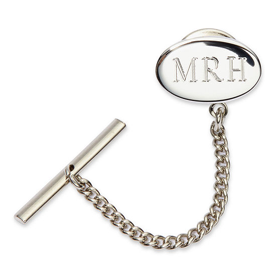 Personalized Sterling Silver Tie Tack