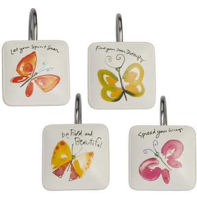 Creative Bath™ Flutterby Shower Curtain Hooks