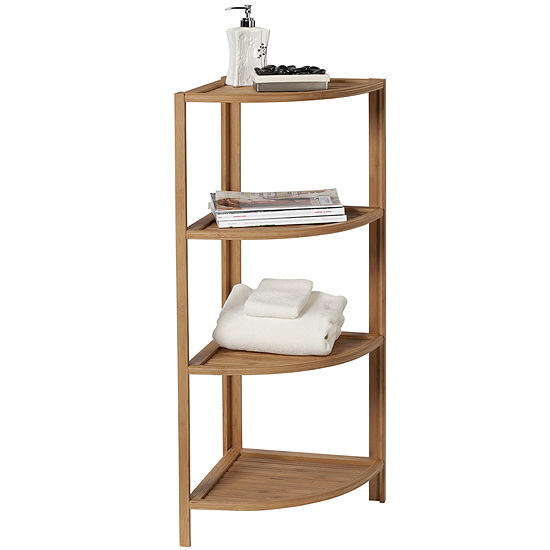 Creative Bath Eco Styles Bamboo 4 Shelf Corner Tower