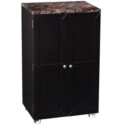 Caldwell Faux-Marble-Top Bar Cabinet