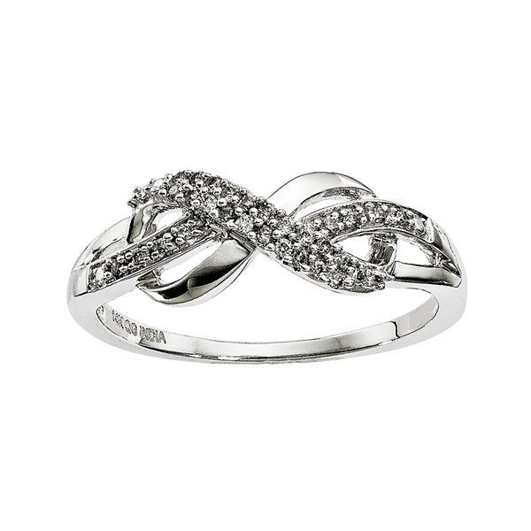 1/10 CT. T.W. Diamond 14K White Gold Infinity Symbol Ring