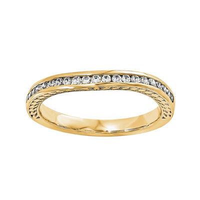 1/10 CT. T.W. Diamond 14K Yellow Gold Wedding Band