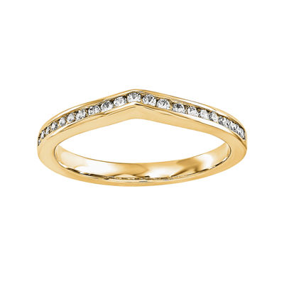 1/7 CT. T.W. Diamond 14K Yellow Gold Wedding Band