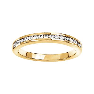 1/4 CT. T.W. Diamond 14K Yellow Gold Wedding Band