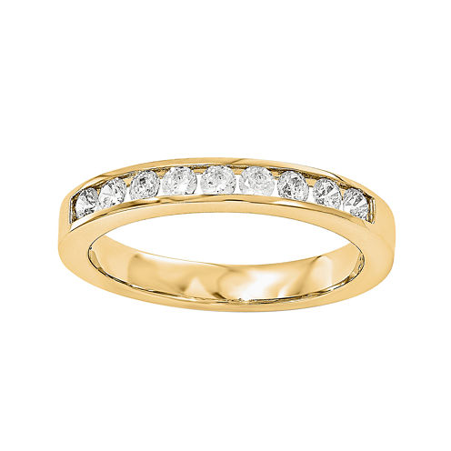 1/3 CT. T.W. Diamond 14K Yellow Gold Wedding Band