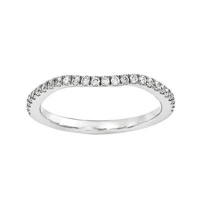 1/7 CT. T.W. Diamond 14K White Gold Wedding Band