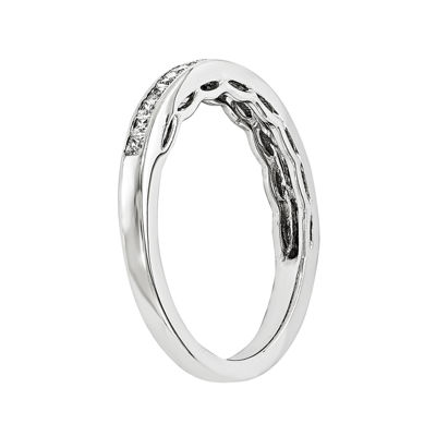 1/10 CT. T.W. Diamond 14K White Gold Wedding Band