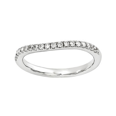 1/7 CT. T.W. Diamond 14K White Gold Wedding Band