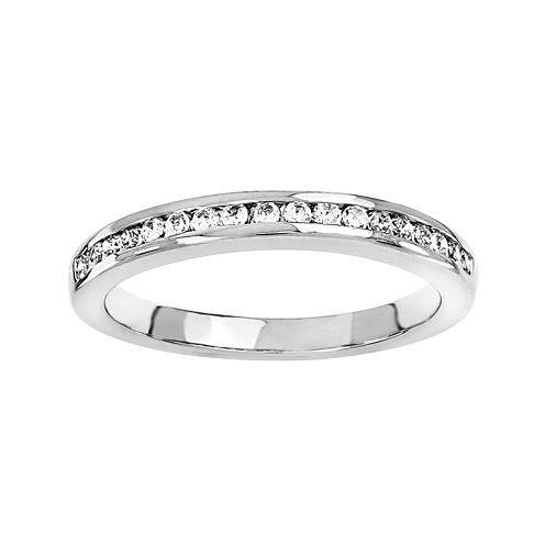 1/3 CT. T.W. Diamond 14K White Gold Wedding Band