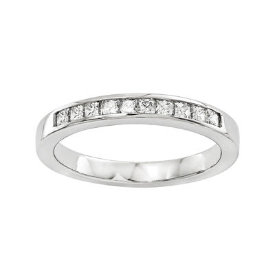 1/2 CT. T.W. Diamond 14K White Gold Wedding Band