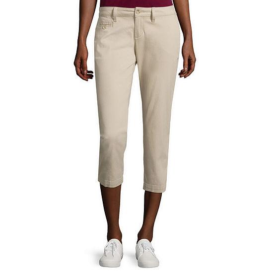 Arizona Schoolgirl Skinny Cropped Pants-Juniors