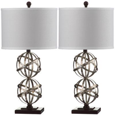 Safavieh Atlas Double-Sphere Table Lamp