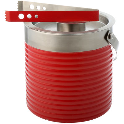 Fiesta® Scarlet Ribbed 3-qt. Ice Bucket & Tongs