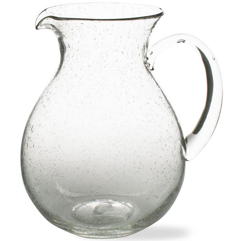 Tag Bubble Glass Pitcher