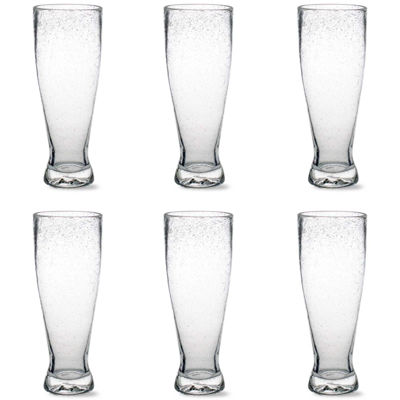 Tag Bubble Glass Set of 6 Pilsner Glasses