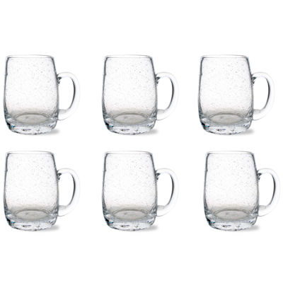Tag Bubble Glass Set of 6 Beer Mugs
