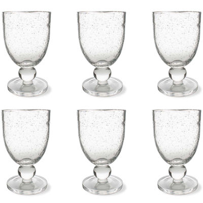 Tag Bubble Glass Set of 6 Goblet Glasses