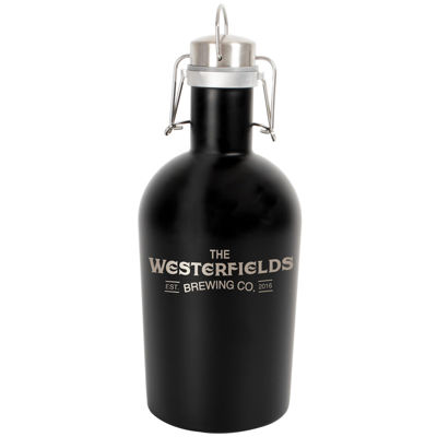 Cathy's Concepts Personalized 64-oz. Black Stainless Steel Growler