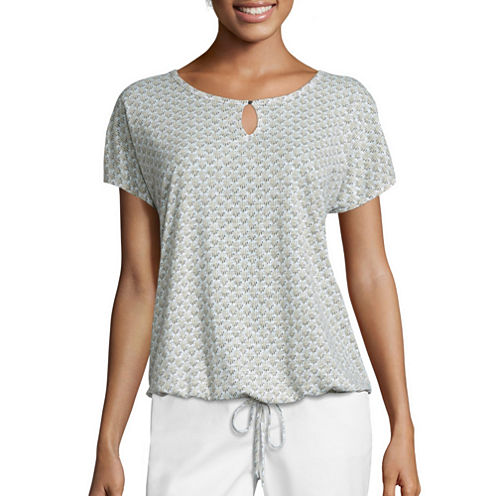 Liz Claiborne® Short-Sleeve Drawstring Tee
