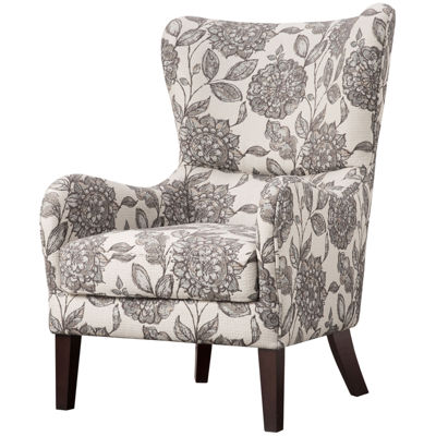 Leda Winged-Arm Accent Chair