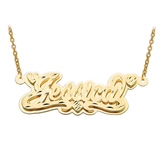 Personalized Polished 3D Name Necklace