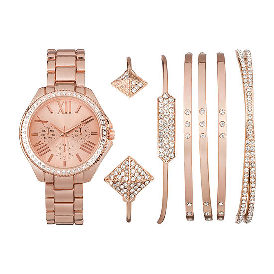 Mixit Womens Rose Goldtone Watch Boxed Set-Jcp2810rg569-228