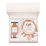 Alexis Bendel C Initial Womens Rose Goldtone 3-pc. Watch Boxed Set-7157r-42-E29