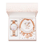 Alexis Bendel L Initial Womens Rose Goldtone 3-pc. Watch Boxed Set-7163r-42-F29