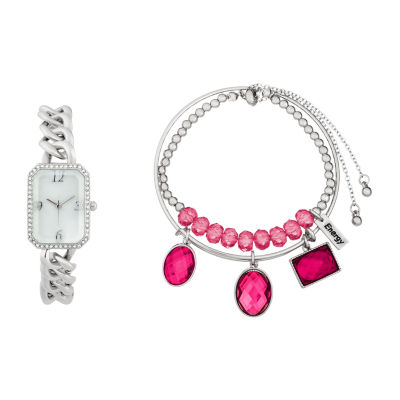 Alexis Bendel Ruby Womens Silver Tone 3-pc. Watch Boxed Set-6959s-42-E28