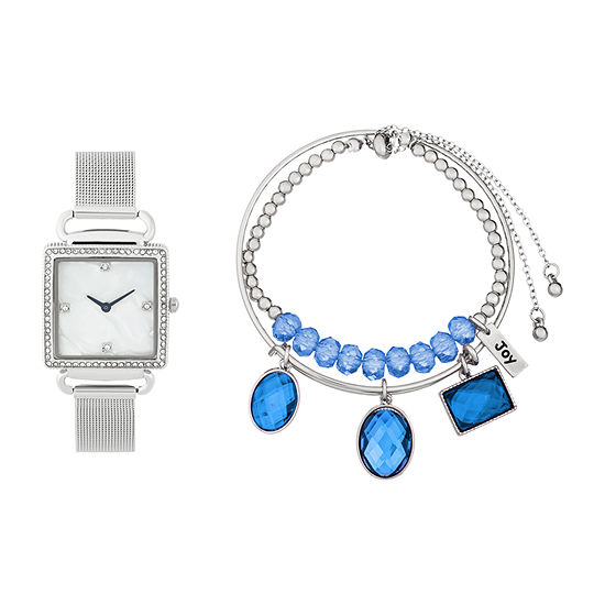 Alexis Bendel Sapphire Womens Silver Tone Watch Boxed Set-7009s-42-E28