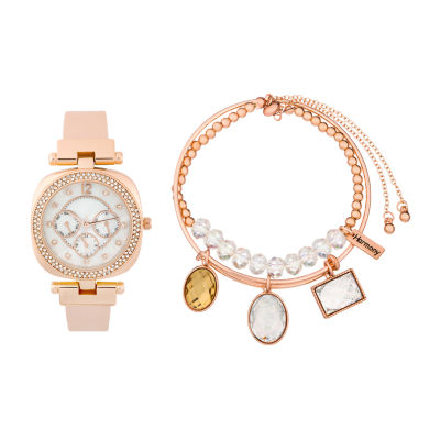 Alexis Bendel Opal Womens Rose Goldtone Watch Boxed Set-7010r-42-E12