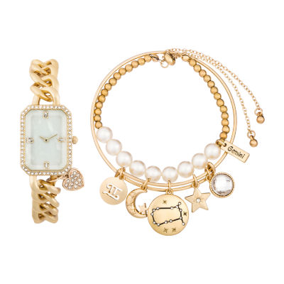 Alexis Bendel Gemini Womens Gold Tone 3-pc. Watch Boxed Set-7031g-42-E27