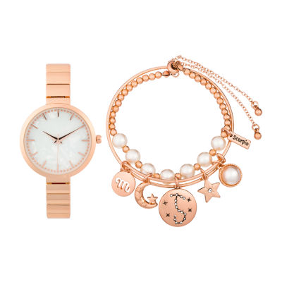 Alexis Bendel Scorpio Womens Rose Goldtone 3-pc. Watch Boxed Set-7036r-42-E29