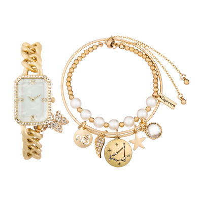 Alexis Bendel Capricorn Womens Gold Tone 3-pc. Watch Boxed Set-7038g-42-E27