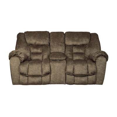 Signature Design By Ashley® Capehorn Reclining Loveseat With Console