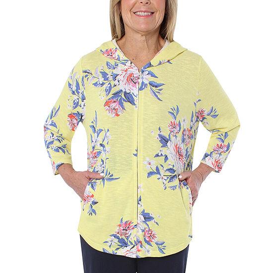 Cathy Daniels Athleisure Womens 3/4 Sleeve Hoodie