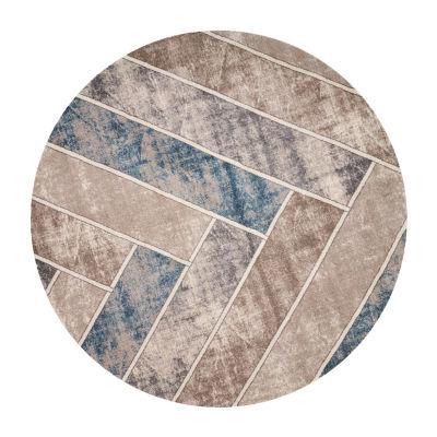 Kas Winston Herringbone By Libby Langdon Round Indoor Rugs