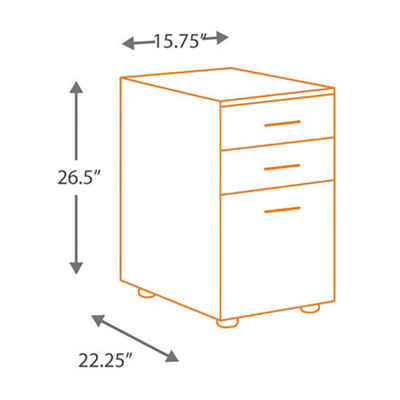 Signature Design by Ashley® Baraga 3-Drawer File Cabinet