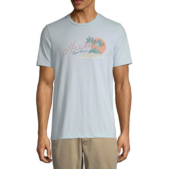 St Johns Bay Mens Crew Neck Short Sleeve Graphic T Shirt