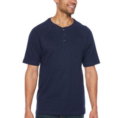 Smith Workwear Mens Short Sleeve Henley Shirt