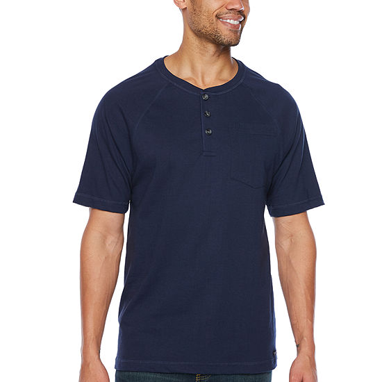 Smith Workwear Mens Short Sleeve Henley Shirt